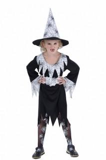 Hexen-Kostüm für Kinder Halloween schwarz-weiss