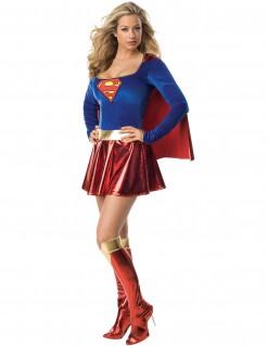 Supergirl Damenkostüm Superheldin Lizenzware blau-rot
