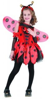 Marienkäferkostüm für Kinder schwarz-rot