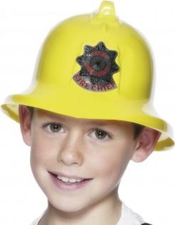 Feuerwehrmann-Helm für Kinder gelb