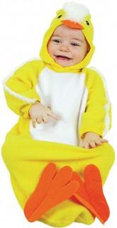 Küken Babykostüm gelb-weiss