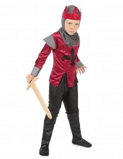 König-Kinderkostüm Kämpferischer Herrscher rot-grau-schwarz