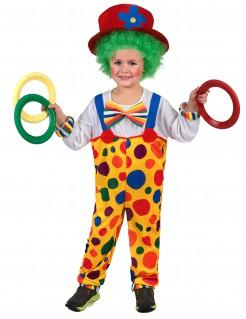 Süsser Clown Kinderkostüm Zirkus gelb-bunt