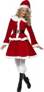 Miss Santa Weihnachtsfrau Damenkostüm Weihnachten rot-weiss