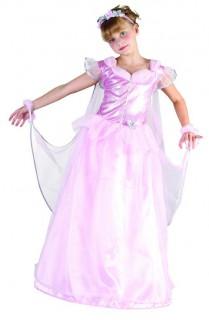 Märchen-Prinzessin Kinderkostüm Ballkleid rosa-silber