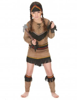 Indianerinnen-Verkleidung für Mädchen