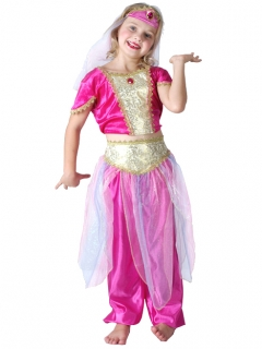Orientalische Tänzerin Kinderkostüm pink-gold