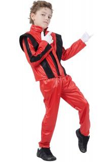 Popstar-Kinderkostüm Rockstar-Kostüm für Kids rot-schwarz