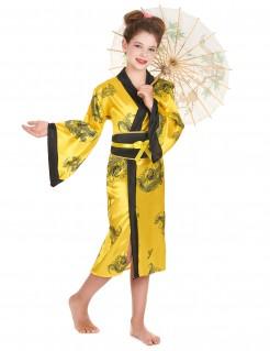 Elegante Chinesin Kinderkostüm Asia gelb-schwarz