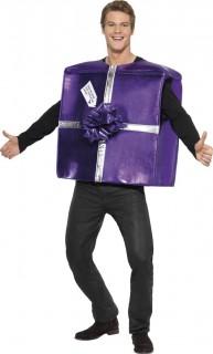 Geschenk Kostüm Weihnachten lila-silber