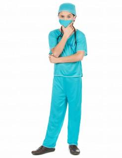 Chirurgen-Kostüm für Kinder blau