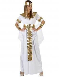 Ägyptische Königin Pharaonin Damenkostüm weiss-gold