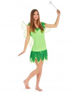 Märchenfee Damen-Kostüm grün