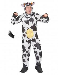 Lustiger Bulle Kuh-Kostüm schwarz-weiss
