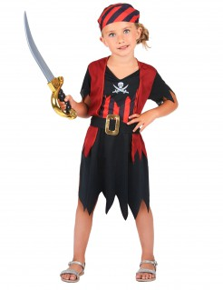 Piraten-Kostüm für Kinder schwarz-rot