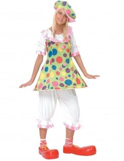 Buntes Clownkostüm für Damen