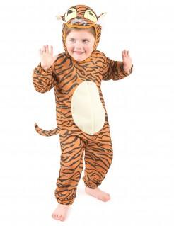 Süsser Tiger Kinderkostüm Raubkatze orange-schwarz-weiss