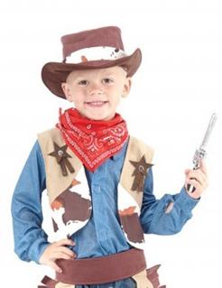 Cowboy-Kinderkostüm Sheriff beige-braun-rot