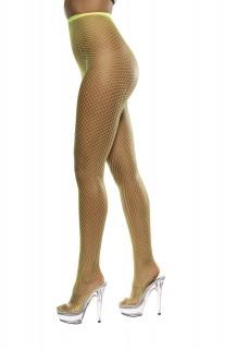 Damen-Strumpfhose Netzoptik neongelb