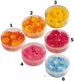 Margeriten-Blüten Tischdeko 20 Stück orange 5cm