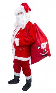 Klassisches Weihnachtsmann-Kostüm Weihnachtskostüm rot-weiss