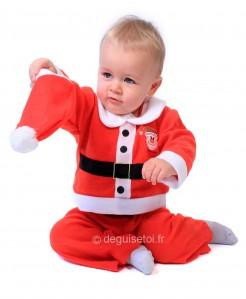 Weihnachtsmann-Babykostüm Weihnachtskostüm für Babys rot-weiss-schwarz