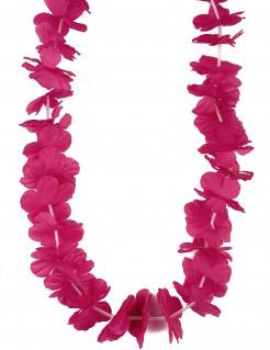 Blumenkette Hawaii für Erwachsene pink