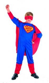 Superheld Kinderkostüm blau-rot-gelb