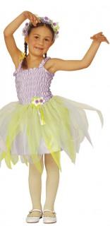 Ballerina-Kostüm für Kinder Feen-Kostüm Fasching violett-gelb