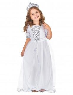 Prinzessinnen-Kinderkostüm weiss-silber
