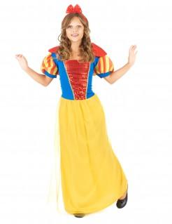 Zauberhafte Märchen-Prinzessin Damenkostüm gelb-blau-rot