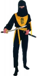 Ninja mit Drache Kinderkostüm gelb-schwarz