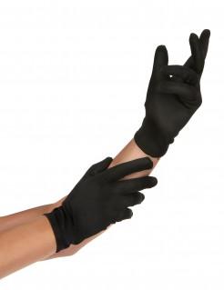Handschuhe Clown Pantomime kurz schwarz