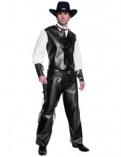 Cowboy Kostüm Karneval schwarz-weiss