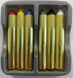 Karneval Make-up Stifte Schminkstifte 6-teilig bunt 9,6g