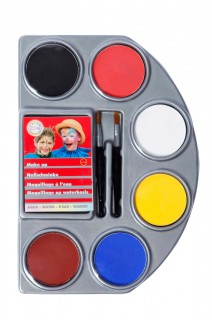 Aqua Make-Up Schminkpalette 6 Farben bunt 24g