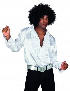 Erwachsenenhemd fürs Tanzlokal in Weiß