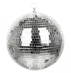 Disco-Kugel silber 30cm