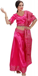 Sari-Damenkostüm Bollywood pink-gold