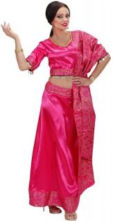Sari-Damenkostüm Bollywood pink-gold