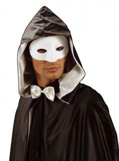 Augenmaske Phantom Maskenball-Accessoire weiss