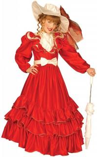 Scarlett-Kostüm für Mädchen rot