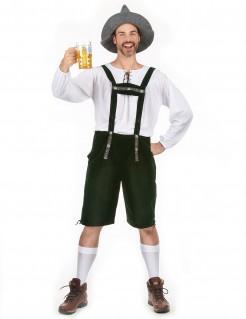 Bayer Oktoberfest Lederhose schwarz-weiss