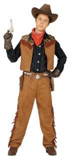 Jungen-Cowboy-Kostüm braun