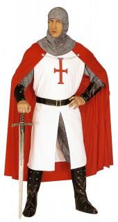 Kreuzritter Kostüm weiss-rot-grau