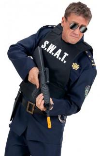 Polizist Weste SWAT schwarz-weiss