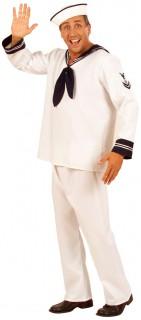Seemanns-Kostüm weiss-blau