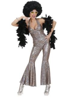 Damen Disco-Kostüm silberfarben