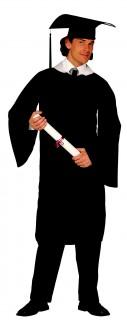 Akademiker Kostüm Uniabsolvent schwarz
