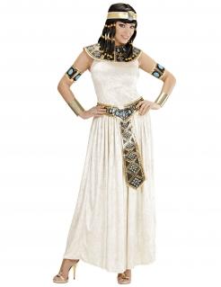 Cleopatra Damenkostüm Deluxe creme-blau-gold